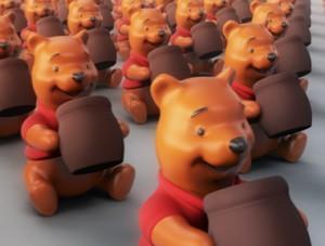 Bear Toy - Ursinho Pooh